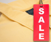 Sale Tag and Polo Shirt — Fotografia Stock