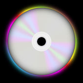 Glowing CD — Stock Vector