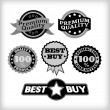 Vintage Quality Seals — Stock Vector