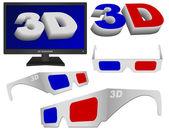 3D Video — Stock Vector