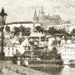 Prague Castle Sketch — Stock Photo #8735484