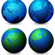 Globes — Stock Vector #8860964