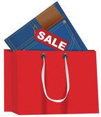 Vêtements - vente — Vecteur