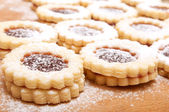 Linzer Cookies — Stock Photo