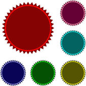 Collection of six glossy buttons in various colors — Vector de stock