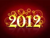 Carta di Capodanno 2012 — Foto Stock