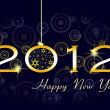 Happy new year 2012 — 图库照片