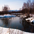Nice winter lake scene — Stock Photo #8171912