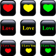 Set of vector buttons - Image vectorielle