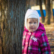 The little girl in park — Stock Photo