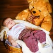 Sleeping newborn baby — Stock Photo #9678073