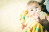 Baby drinking — Stock Photo
