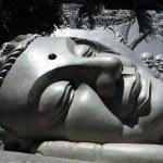 Giant buddha head — Stock Photo