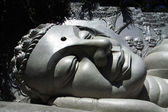Giant buddha head — Foto de Stock
