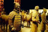Terracotta warriors and horses — Stock Photo