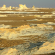 Landscape of the famous white desert in Egypt — Foto de Stock