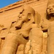 Ramses II statues at Abu Simbel in Egypt — Stock Photo