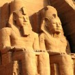 Ramses II statues at Abu Simbel,Egypt — Stock Photo