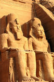 Ramses II statues at Abu Simbel,Egypt — Stock Photo