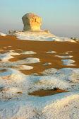 Mısır'daki ünlü beyaz çöl manzarası — Stok fotoğraf