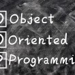 Chalk writing of OOP for Object Oriented Programming — Stock Photo #10159584