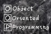 Chalk writing of OOP for Object Oriented Programming — Stock Photo