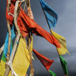 Prayer flags in Tibet — Stock Photo