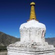 White stupa in Tibet — Stock Photo
