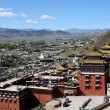 Historic lamasery in Shigatse,Tibet - Foto de Stock