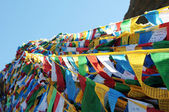 Banderas de oración en el Tíbet — Foto de Stock
