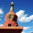 Red stupa in Tibet — Stock Photo