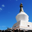 White stupa in Tibet - Stock Photo