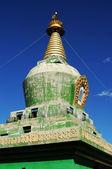 Green stupa in Tibet — 图库照片