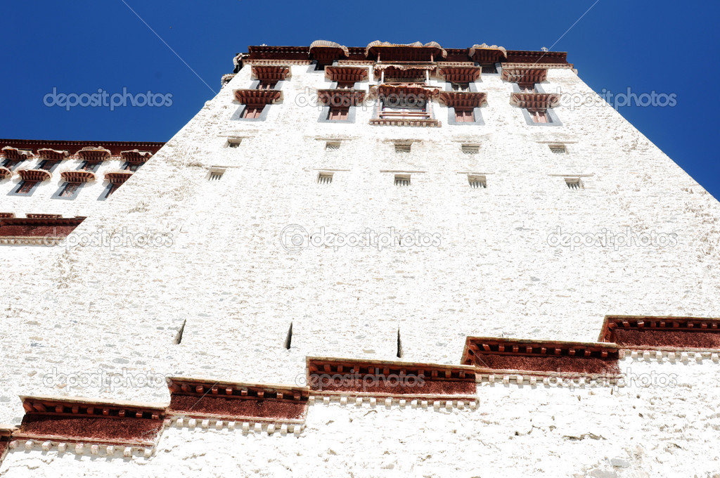 Landmark of the famous Potala Palace in Lhasa Tibet  Stock Photo #10581204