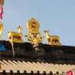 Roof of a lamasery - Foto Stock