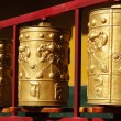 Stock Photo: Tibetan prayer wheels