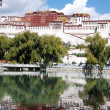 Landmark of the famous Potala Palace in Tibet - Stock Photo