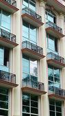 Exterior view of an apartment building — Stock Photo