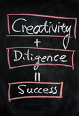Creativity with diligence means success — Stock Photo