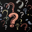 Stock Photo: Colorful question marks