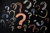 Colorful question marks — Stock Photo