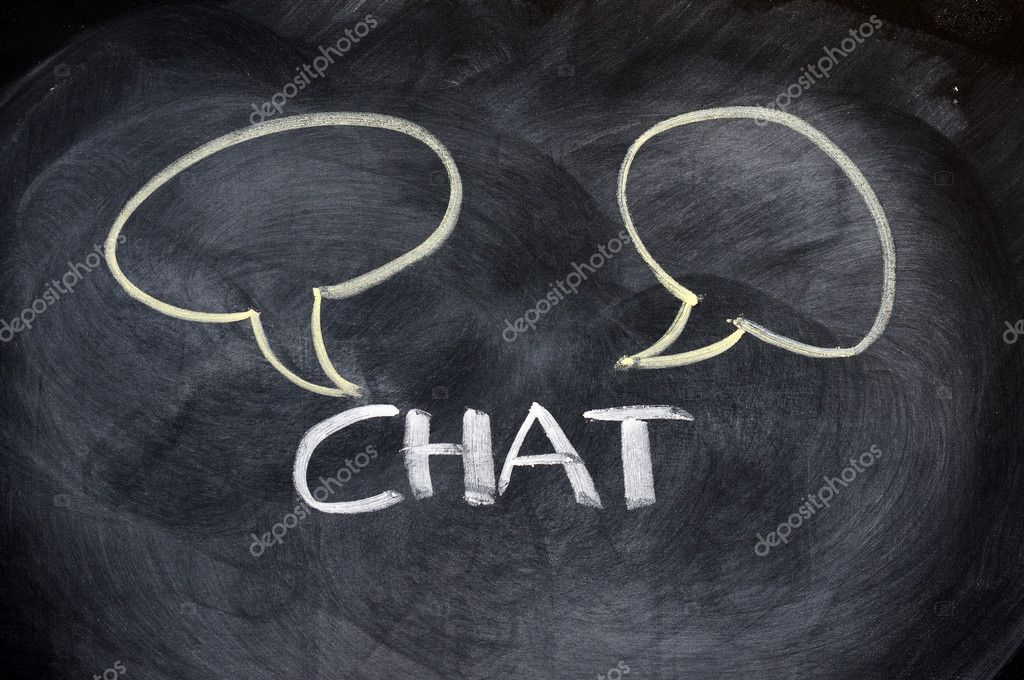 Chat board drawn with chalk on a blackboard — Stock Photo #8247664