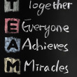 TEAM acronym written in colorful chalk — Stock Photo #8295430