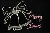 Jingle bells drawn with chalk — Stock Photo