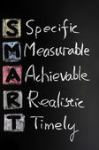 Smart goal concept for setting management objectives — Stock Photo