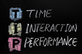 TIP acronym,time interaction performance — Stock Photo
