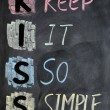 Stock Photo: KISS acronym