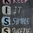 KISS acronym — Stock Photo