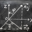 Stock Photo: Maths formulas written on blackboard