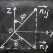 Maths formulas written on blackboard — Stock Photo #8487297